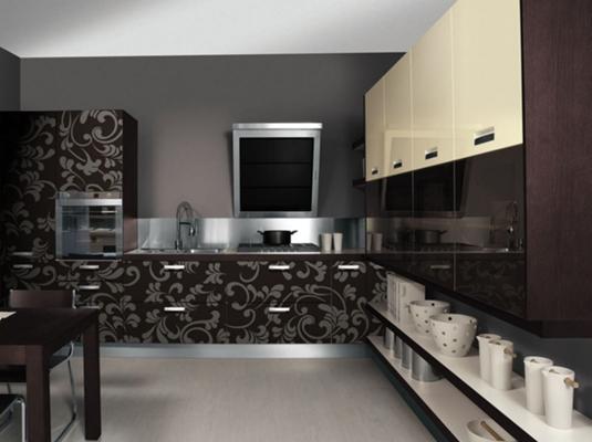 Проект на ъглова кухня полиглос