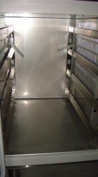 Хладилна маса с мраморен плот