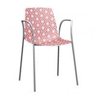 Модерен стол червено и бяло