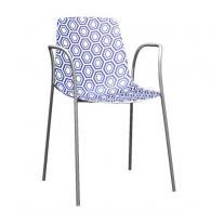 Модерен стол синьо и бяло