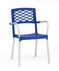 Модерен стол в синьо