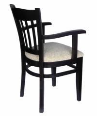 Стол с подлакътници цвят венге