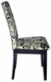 Салонен стол с тапицерия на цветя