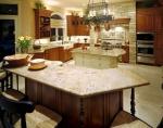 Изработка на правоъгълен кухненски плот от мрамор