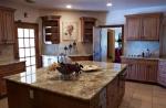 Правоъгълен мраморен кухненски плот